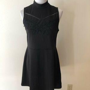 Xhiliration black sleeveless dress - womens large